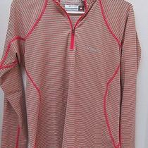 Columbia Sportswear Omni-Heat Thermal Pullover 1/4 Zip Womens Striped Top Sz Xl Photo