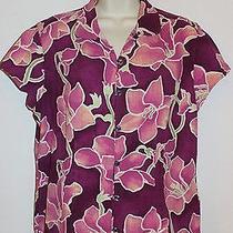 Columbia  Sportswear River Resort Aloha Print Blouse Size Large L  Photo