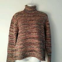 Columbia Sportswear Turtle Neck Sweater Women L Colorful Knit Outdoor Photo