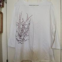 Columbia Sportswear White Pullover Top With 3/4 Sleeves - Plus Size 2x Photo