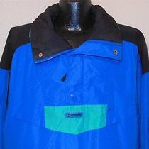 Columbia Sportswear Wind Breaker Radial Sleeve Blue Black Pull Over Jacket Xl Photo