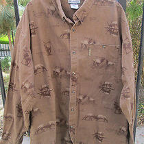 Columbia Sportswear Xxl River Lodge Long Sleeved Elk Shirt Euc Photo