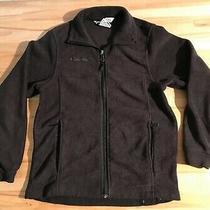 Columbia Sportswear Youth 10/12 Charcoal Gray Fleece Zip Front Jacket Boys Photo