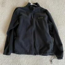 Columbia Steens Mountain Fleece Jacket Black Full Zip Men's Size Xxl Photo