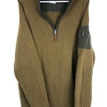 Columbia Sweater Mens Sz Xl Tan/brown Wool Blend Quarter Zip Pullover W/ Pocket Photo