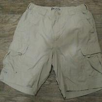 Columbia Tan Board Flat Front Shorts S 6 Pockets Nice Men's Shorts Photo