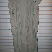 Columbia Tan Nylon Lined 5 Pocket Pants- Men's Size Xxl Photo