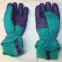 Columbia Teal Purple Hot Pink Winter Ski Gloves Adult Mens Size Medium Snowboard Photo
