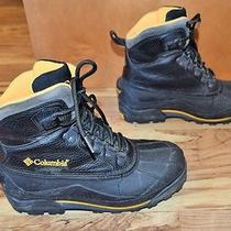 Columbia Thermalite Insulated Winter Boots Mens Size 8.5 Black Yellow Photo