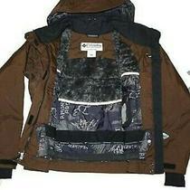 Columbia Titanium Brown Hooded Down Insulated Winter Ski Jacket Sz. S Omni-Tech  Photo