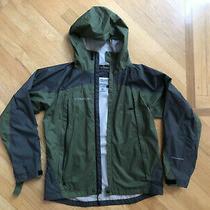 Columbia Titanium Green Nylon Rain Jacket Windbreaker Coat Youth Sz 14/16 Photo
