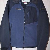 Columbia Titanium Mountain Softshell Blue Jacket Men's Small Interchange Photo