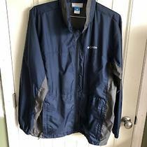 Columbia Titanium Windbreaker Mens Large Rain Nylon Hooded Jacket Full Zip Photo