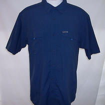 Columbia Titanium Xl Men's Vented Shirt Camping Hiking Outdoors Blue Photo