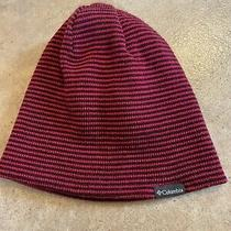Columbia Toque Beanie Knit Hat Size 0/s Unisex Pink Stripe Photo
