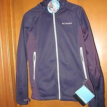 Columbia Triteca Softshell Active Jacket (Women's Large Navy/purple) Photo