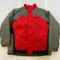 Columbia Vertex Youth Size 18/20 Red Gray Full Zip Winter Parka Jacket Coat Euc  Photo