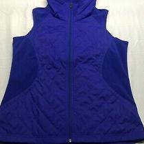 Columbia Vest Large Blue Full Zip Outdoors Sleeveless Mens  Photo