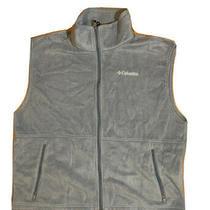 Columbia Vest Mens  Size Xl Blue Full Zip Polyester Fleece Vest Photo