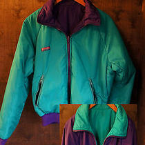 Columbia Vtg 80's Reversible Purple & Teal Thinsulate Radial Puffer Ski Parka 74 Photo