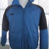 Columbia Vtg 90s Blue Black Reversible Puffer Ski Jacket Radial Sleeve -  Xl Photo