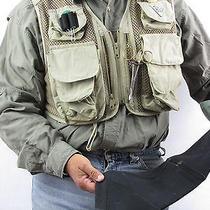 Columbia Vtg Fly Fishing Hunting Photography Vest Khaki 9 Pockets Neoprene Lg H1 Photo