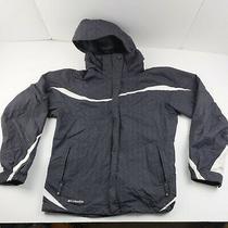 Columbia Windbreaker Waterproof Jacket Coat Large Womens Gray Photo