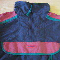 Columbia Windbreaker Women's L Radial Sleeves Retro Colors. Photo