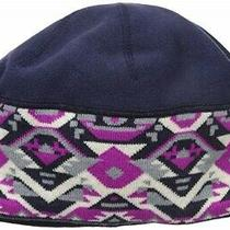Columbia Women's Alpine Pass Winter Beanie Hat Ebony Blue Geo One Size New Photo