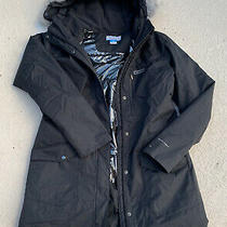 Columbia Women's Black Long Omni Heat Jacket Coat Hooded Parka Xl Photo