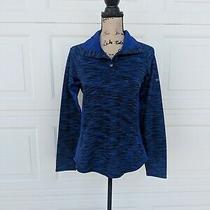 Columbia Women's Blue Sweatshirt Snap Button Outdoor Turtleneck Sz Medium M Photo