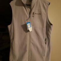 Columbia Womens Full Zip Fleece Vest Jacket Size S Grey Photo