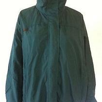 Columbia Women's Green Radial Sleeve Bugaboo Rain/ski Jacket Double Zip Coat L Photo