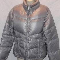 Columbia Women's Jacket Down Winter Puffer Silver Size Medium Free Shipping Photo