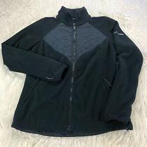 Columbia Women's L Black Zip Front Interchange Fleece Jacket Photo