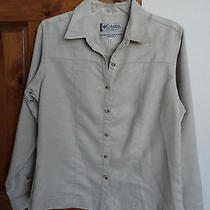 Columbia Women's Long Sleeve Button-Down Suede Textured Casual Shirt Size M  Photo
