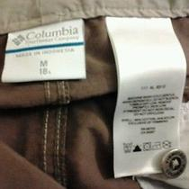 Columbia Women's Medium Lightweight Brown Flat Front Capri Cropped Pants  Photo