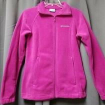 Columbia Women's Pink Full Zip Soft Fleece Jacket Size Small Excellent Used  Photo