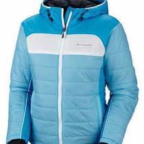Columbia Women Shimmer Flash Omni Heat Insulated Snow Jacket  L Blue 150.00 Photo