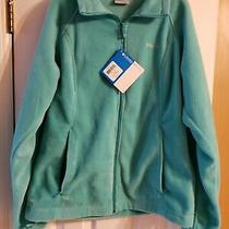 Columbia Womens Fleece Jacket Large Turquoise Blue Nwt Originally 60 Photo