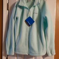 Columbia Womens Fleece Jacket Size L  Aqua Blue  Nwt  Originally 45 Photo