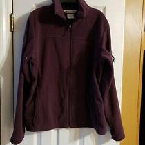 Columbia Womens Fleece Jacket Size L Purple Gently Pre Owned Originally 50 Photo
