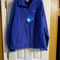 Columbia Womens Fleece Jacket Size Large Blue Nwt Originally 50 Photo