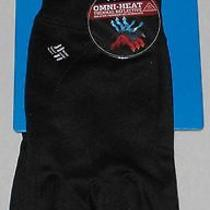 Columbia Womens Gloves Omni Heat Black Large Xl Hit the Trail Stretch Fleece L Photo