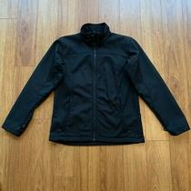 Columbia Womens Interchange Jacket Black Zip Up Pockets Mock Neck Fleece Lined M Photo