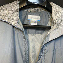 Columbia Womens Interchange Jacket Full Zip Faux Fur Collar Sz Medium Light Blue Photo