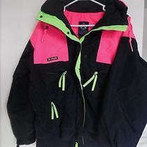 Columbia- Womens Jacket -  Black Hot Pink Bright Green Radial Sleeve Sz L Photo