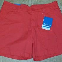 Columbia Womens Modern Classic Shorts Size 6 Bright Coral Nwt  Photo