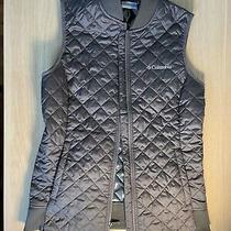 Columbia Womens Omni Heat Quilted Puffer Vest Jacket Size Xs Gray Photo