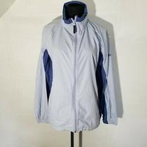 Columbia Womens Packable Jacket M Blue Vented Mesh Line Pocket Nylon Windbreaker Photo